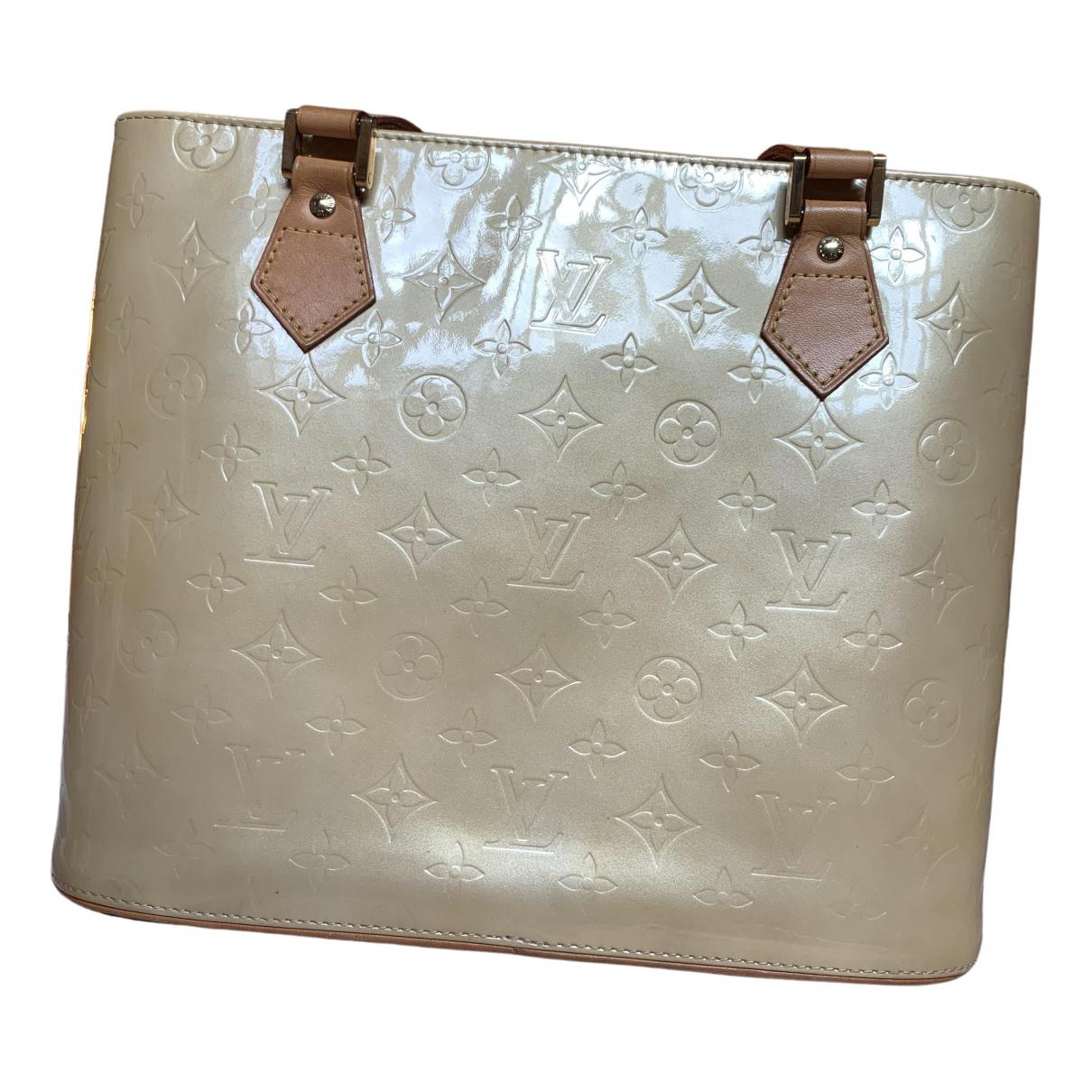 Louis Vuitton Houston Handtasche in  Beige Lackleder