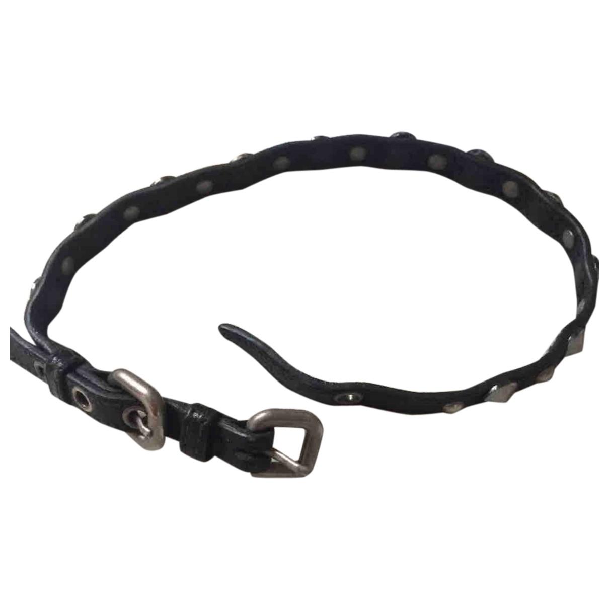 Miu Miu - Bracelet   pour femme en cuir - noir