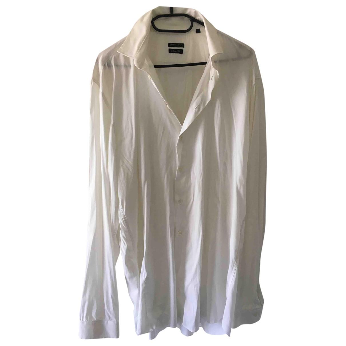 Patrizia Pepe \N White Cotton Shirts for Men L International