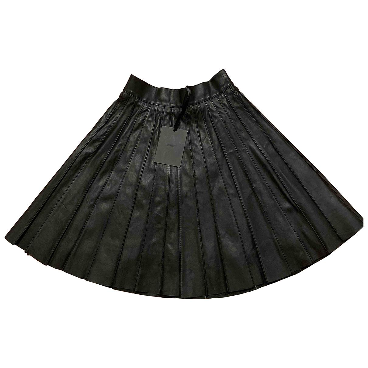 Gestuz - Jupe   pour femme en cuir - noir