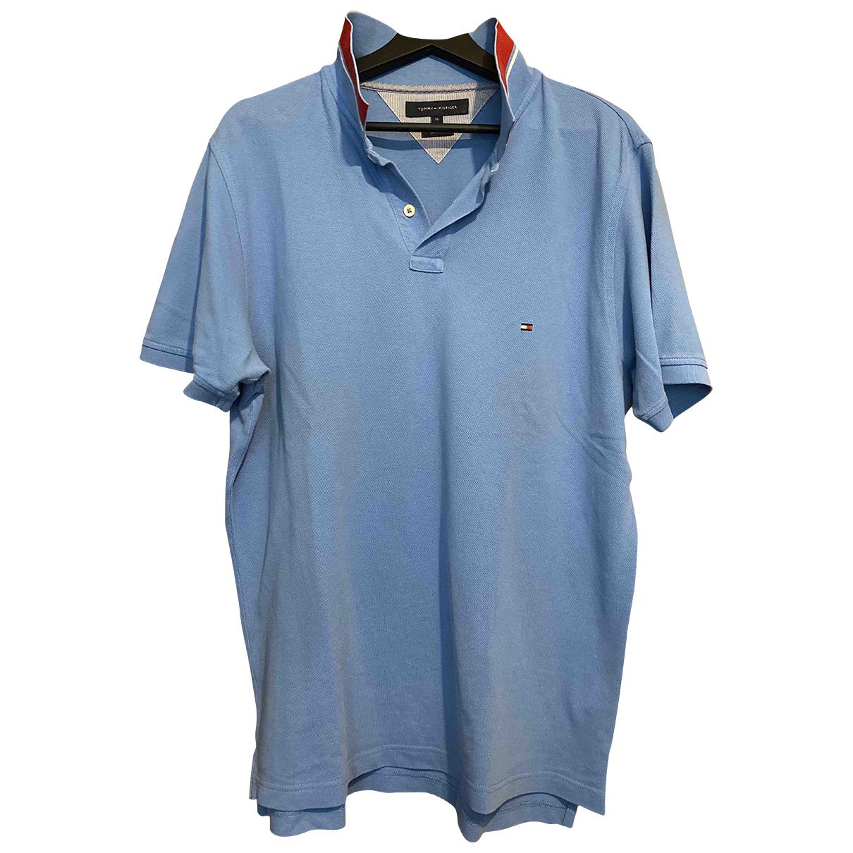 Polo en Algodon Azul Tommy Hilfiger