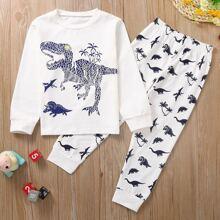 Homewear de niño pequeño Animal Casual
