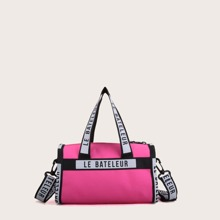 Letter Graphic Duffle Bag