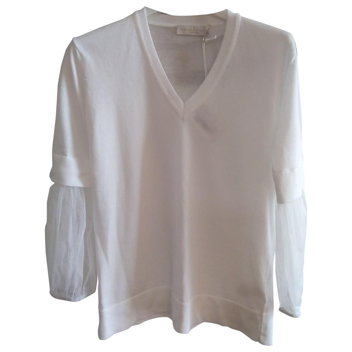 Fabiana Filippi \N White Cotton Knitwear for Women 38 IT