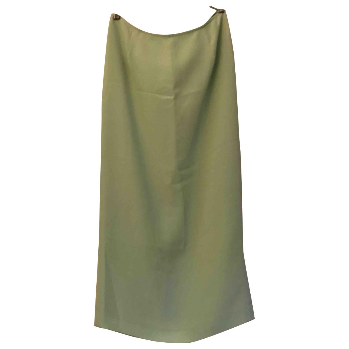 - Jupe   pour femme en soie - turquoise