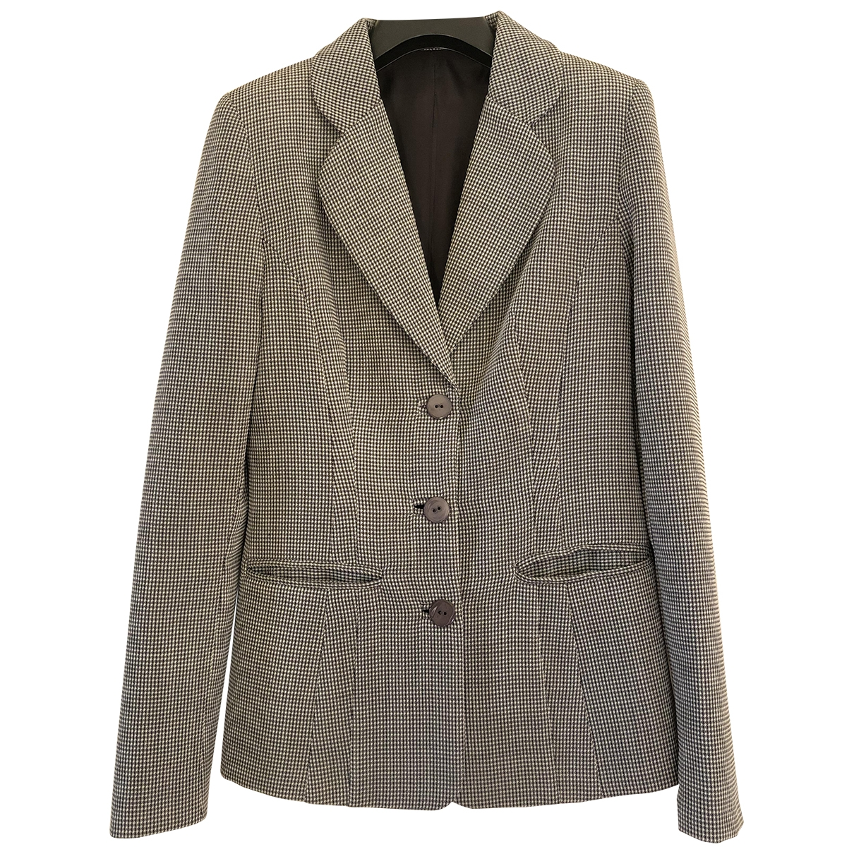 Non Signé / Unsigned \N Grey Wool jacket for Women 38 IT