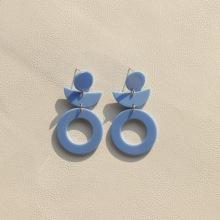 Runde Ohrringe mit Ausschnitt
