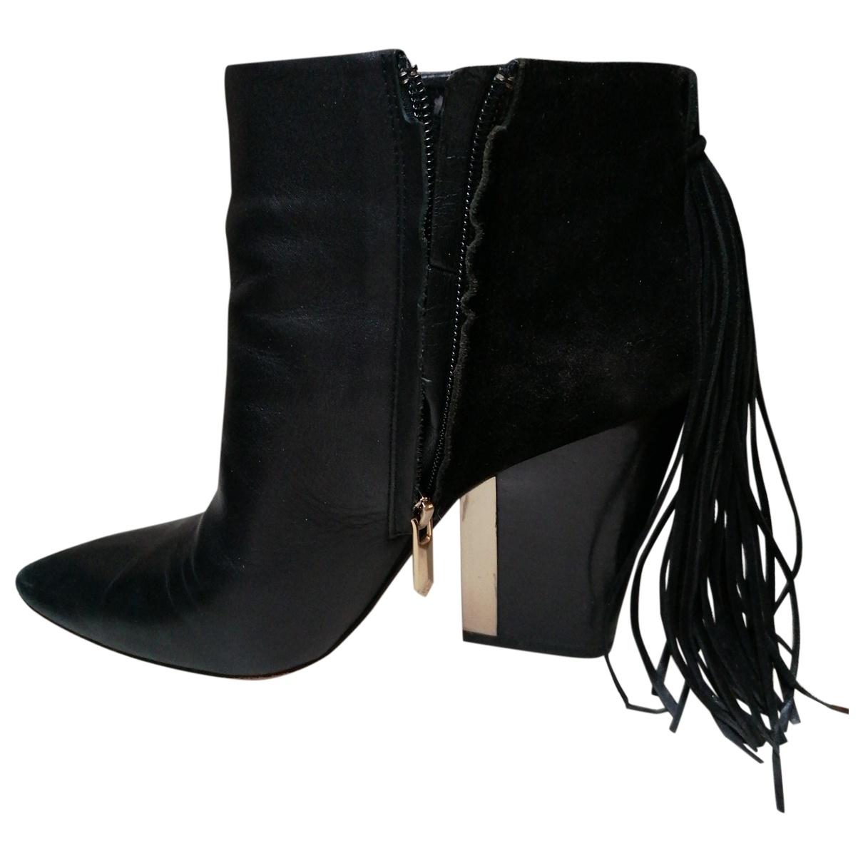 Sam Edelman \N Black Leather Ankle boots for Women 37 EU