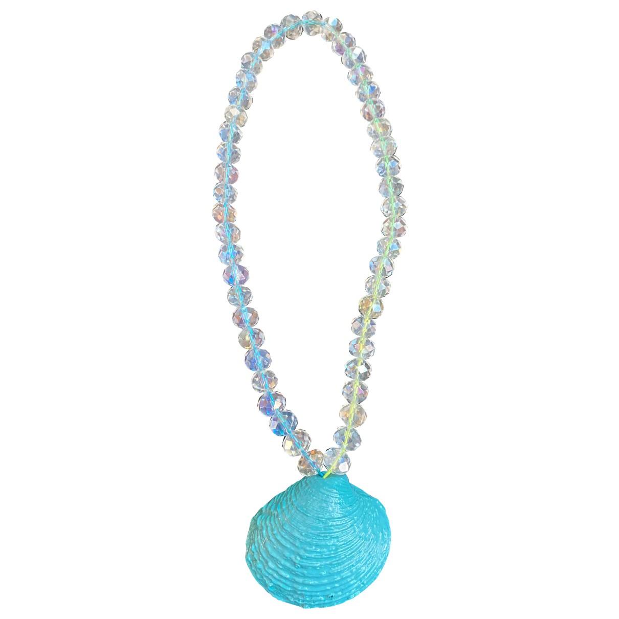 Collar Motifs Coquillages de Cristal Non Signe / Unsigned