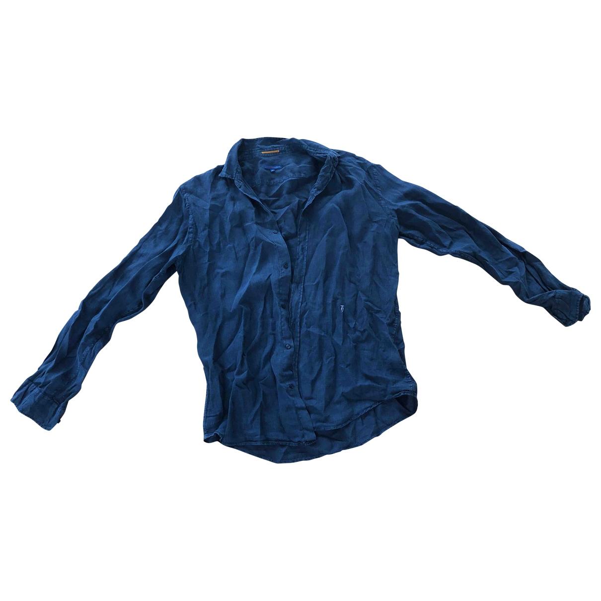 Trussardi Jeans \N Blue Linen Shirts for Men XL International