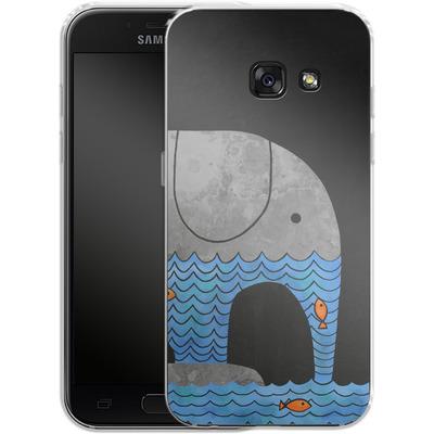 Samsung Galaxy A3 (2017) Silikon Handyhuelle - Thirsty Elephant von Terry Fan