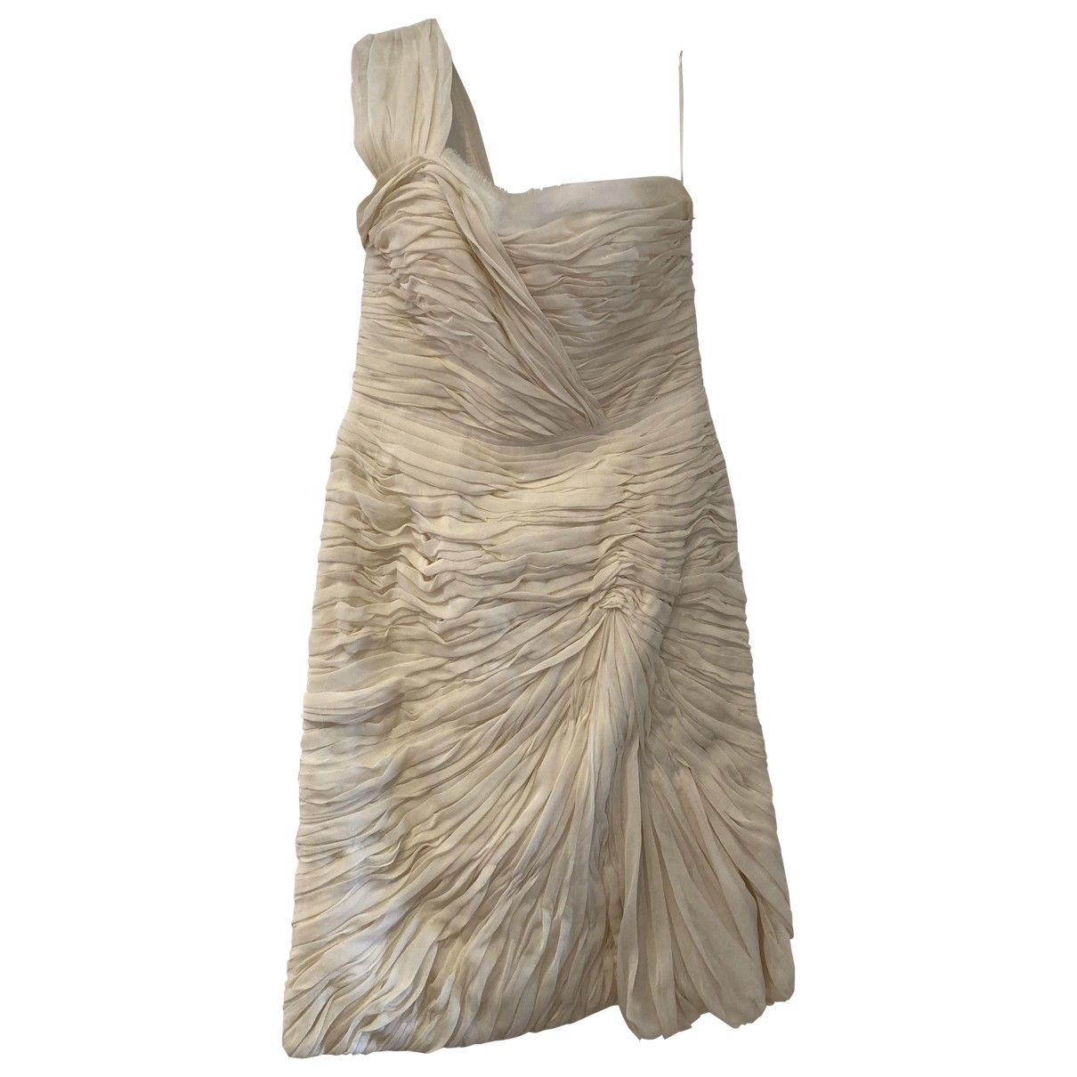 Chloe - Robe   pour femme en soie - ecru