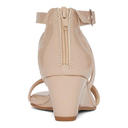 Pop Womens Strasberg Wedge Sandals, 9 1/2 Medium, White