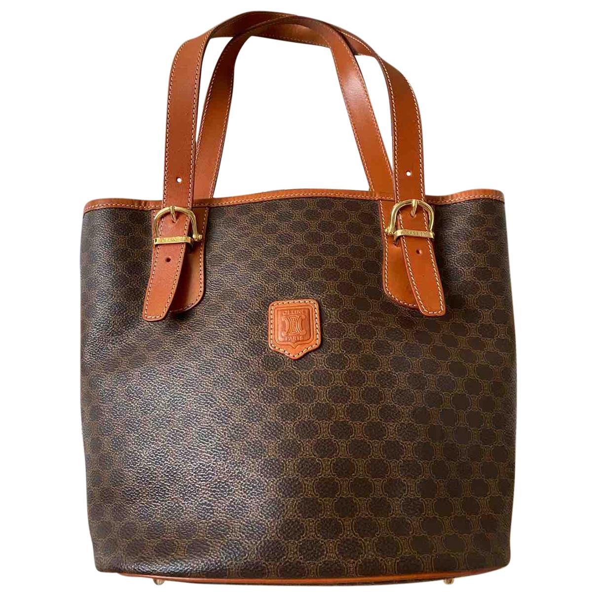 Celine N Brown Cloth Travel bag for Women N