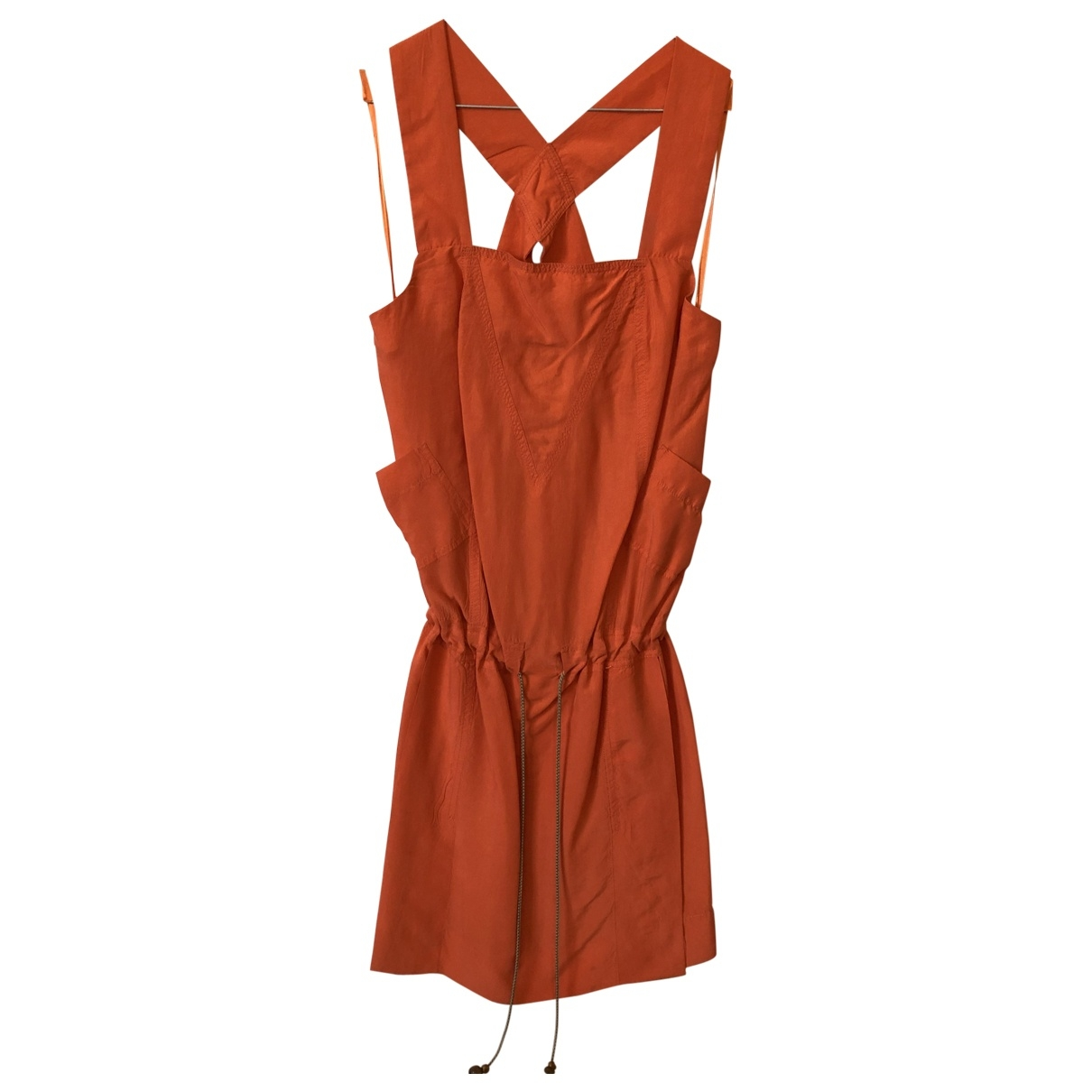 Diane Von Furstenberg \N Orange Silk dress for Women 8 UK