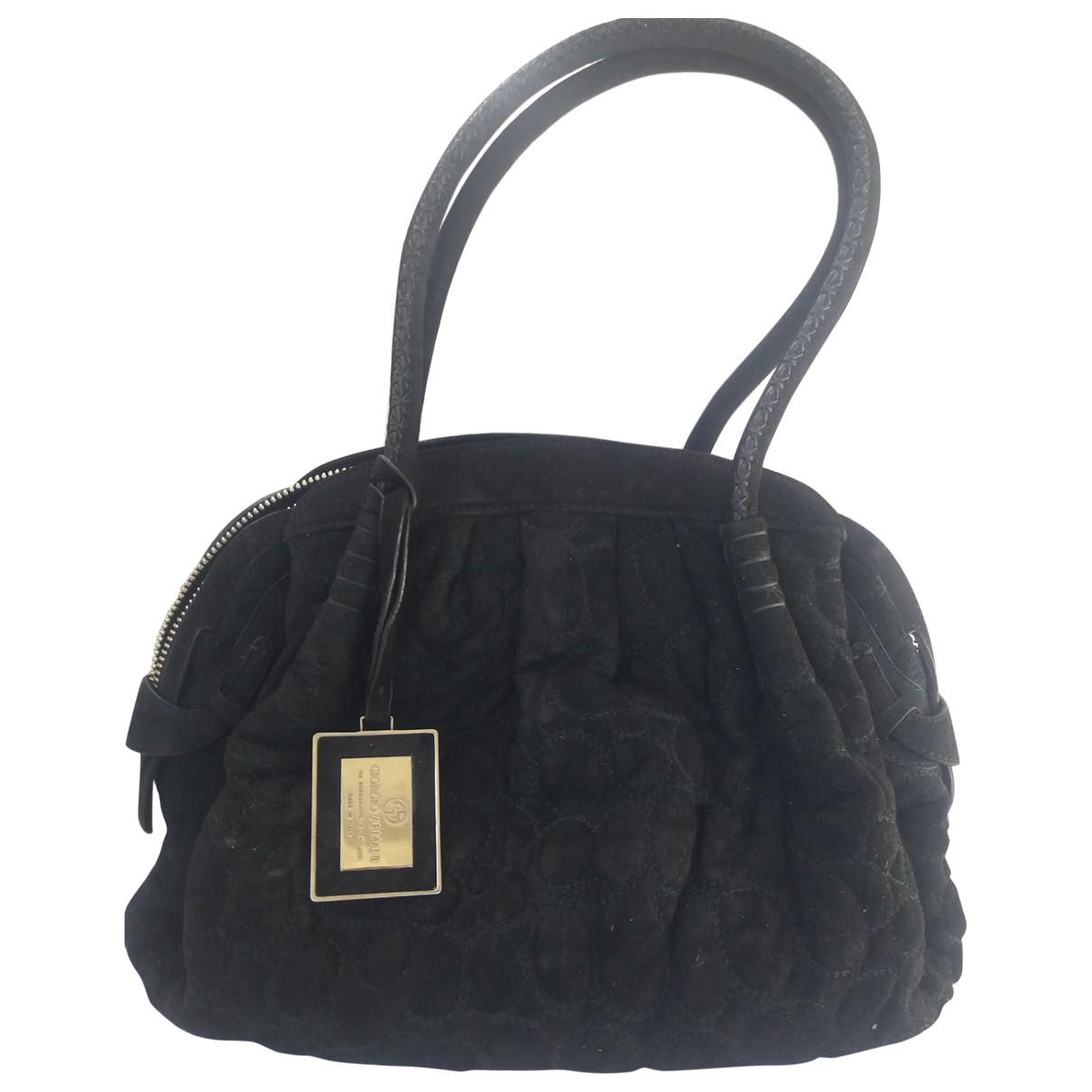 Giorgio Armani \N Handtasche in  Schwarz Veloursleder