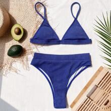 Bañador bikini de cintura alta triangulo de canale