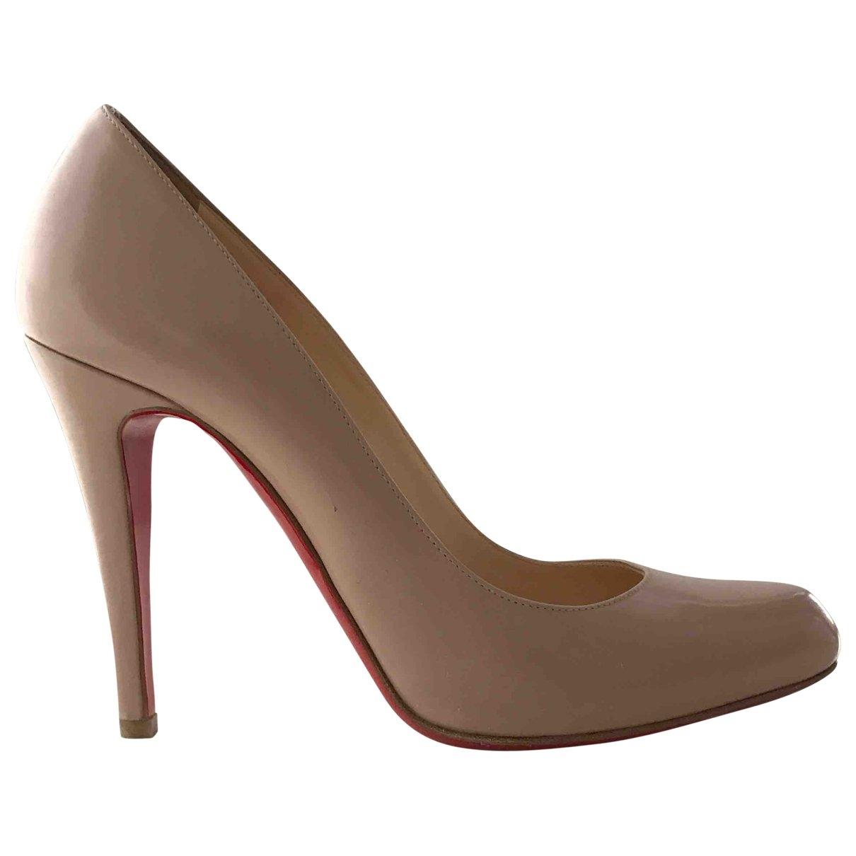 Christian Louboutin \N Beige Leather Heels for Women 39 EU