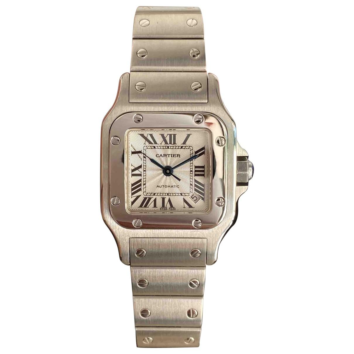 Cartier Santos Galbee Uhr in  Silber Stahl