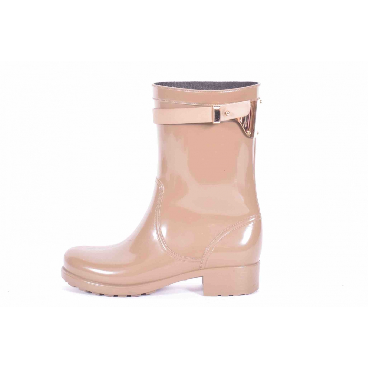Luis Onofre \N Beige Rubber Boots for Women 38 EU