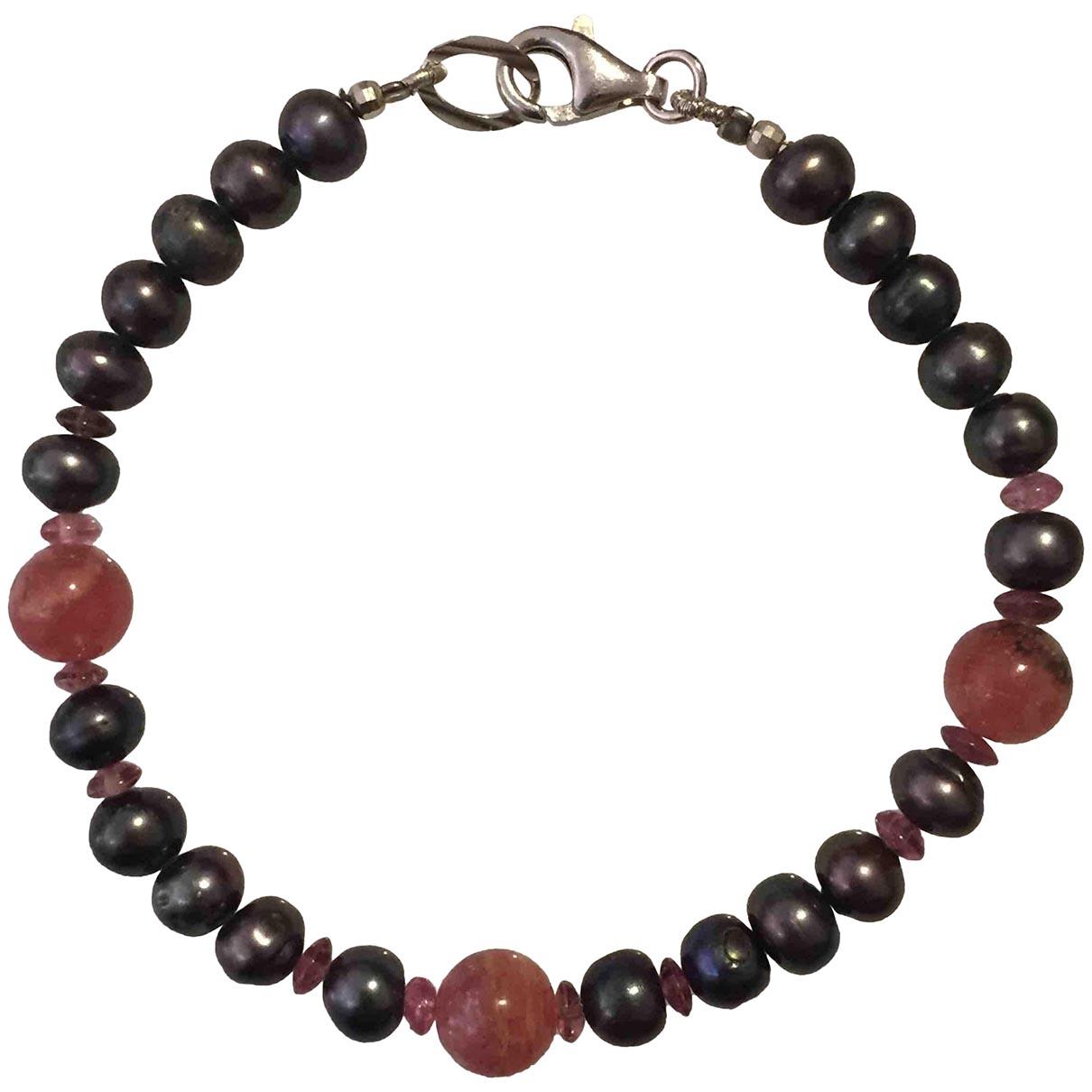- Bracelet Motifs Ethniques pour femme en perles - gris