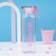 Flasche mit Buchstaben Grafik
