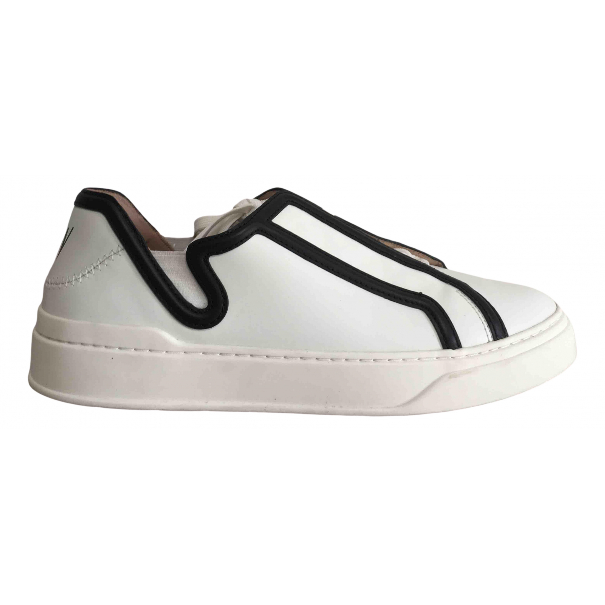 Stuart Weitzman \N White Leather Trainers for Women 12 US