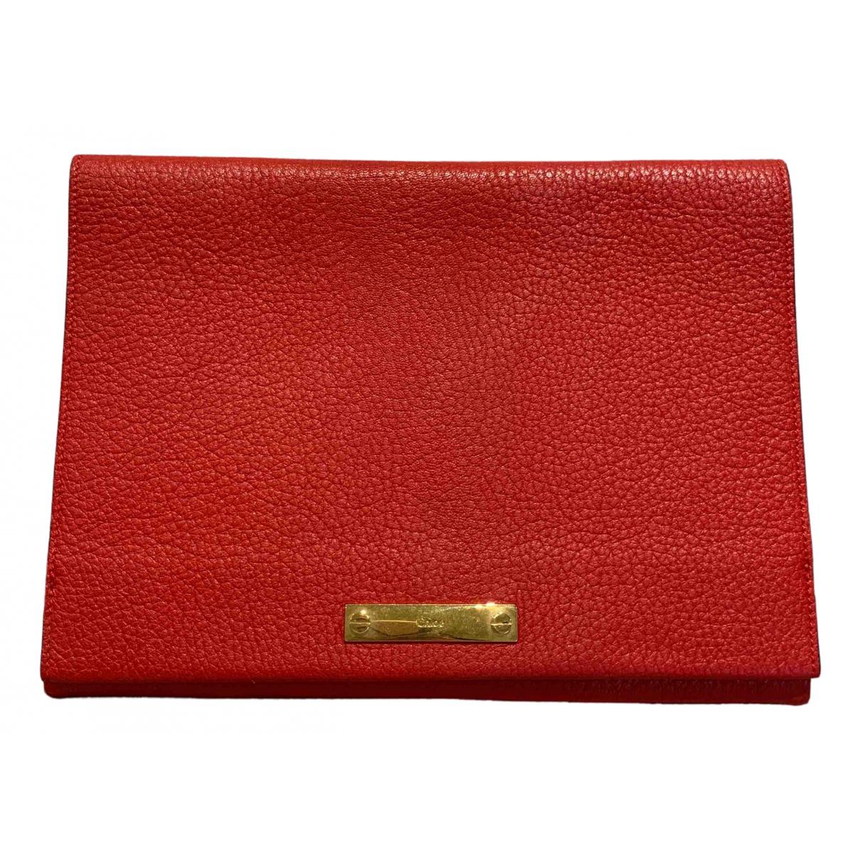Chloe \N Clutch in  Rot Leder