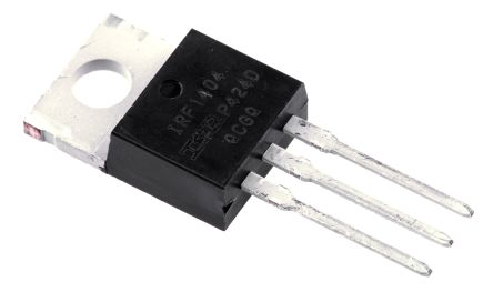 Infineon N-Channel MOSFET, 202 A, 40 V, 3-Pin TO-220AB  IRF1404PBF