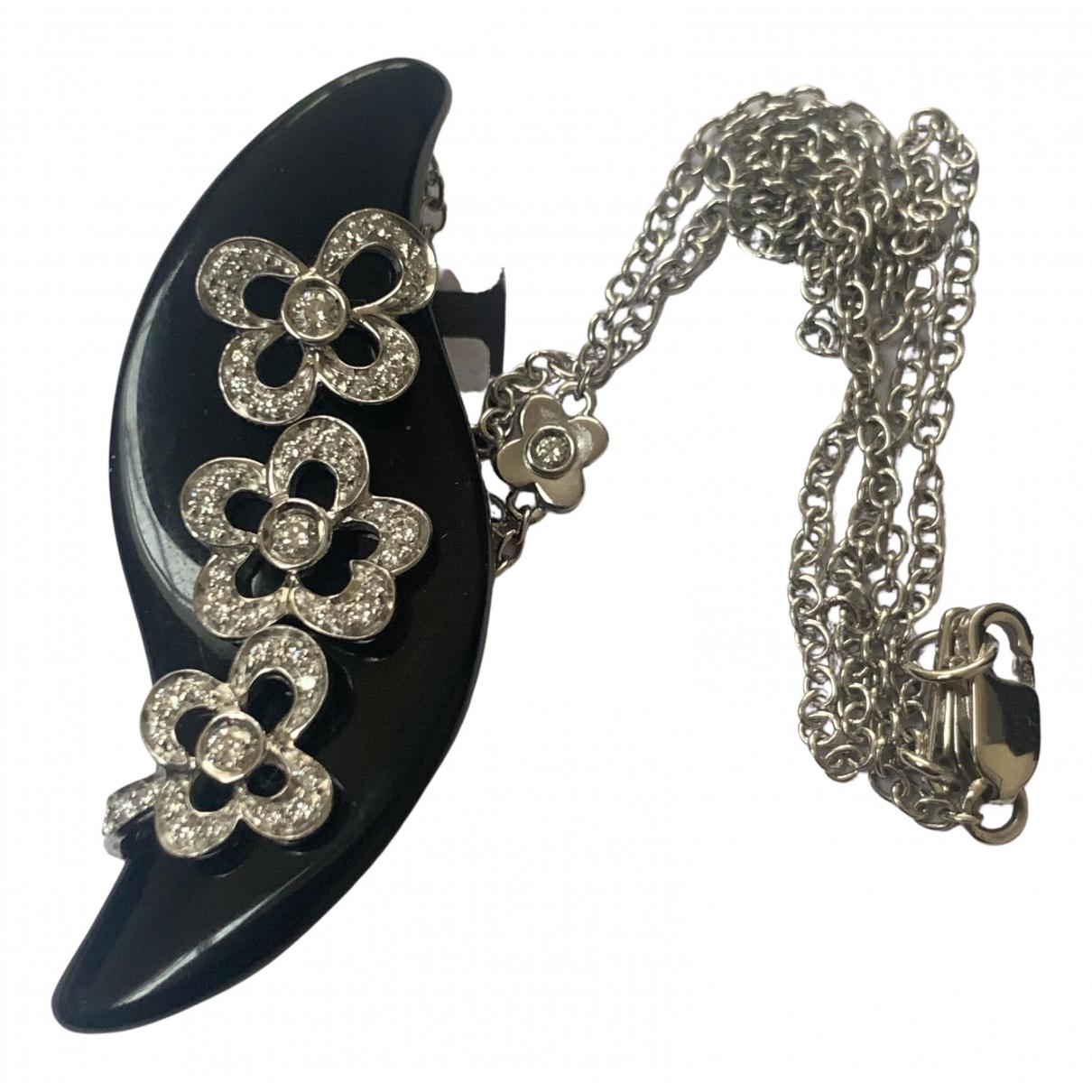 - Collier Onyx pour femme en or blanc - noir