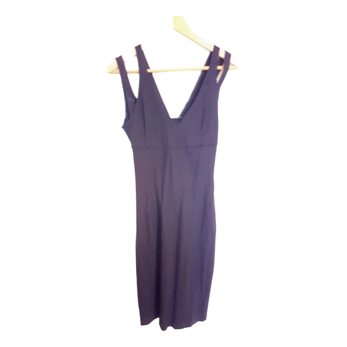 Stefanel \N Kleid in  Schwarz Viskose