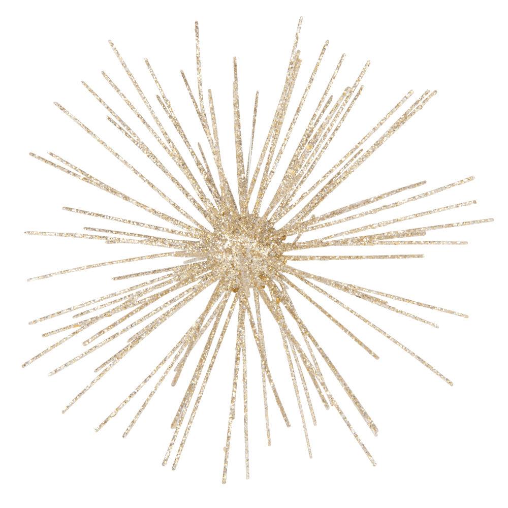 Weihnachtliche Haengedeko, goldfarbener Nadelball