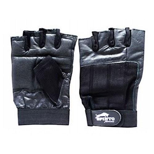 Men's Workout Gloves Black, Medium 1 Pair by Spinto USA LLC