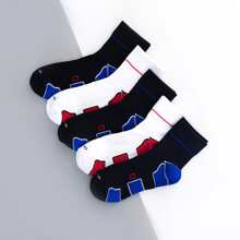 5pairs Men Geometric Pattern Socks