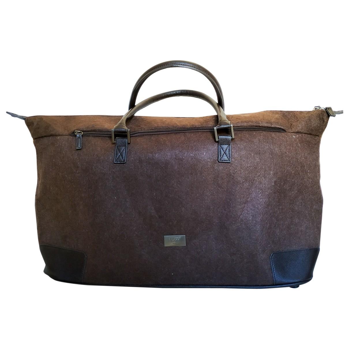 Hugo Boss \N Brown Wool Travel bag for Women \N