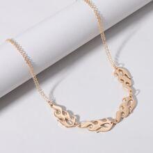 Halskette mit Flamme Dekor