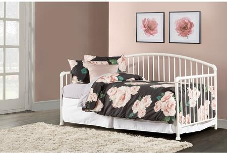 Brandi Collection 2001DBLH Twin Size Daybed with Suspension Deck  Slat Panel Design and Sturdy Tubular Steel Construction in