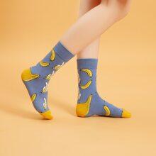 Banana Pattern Socks