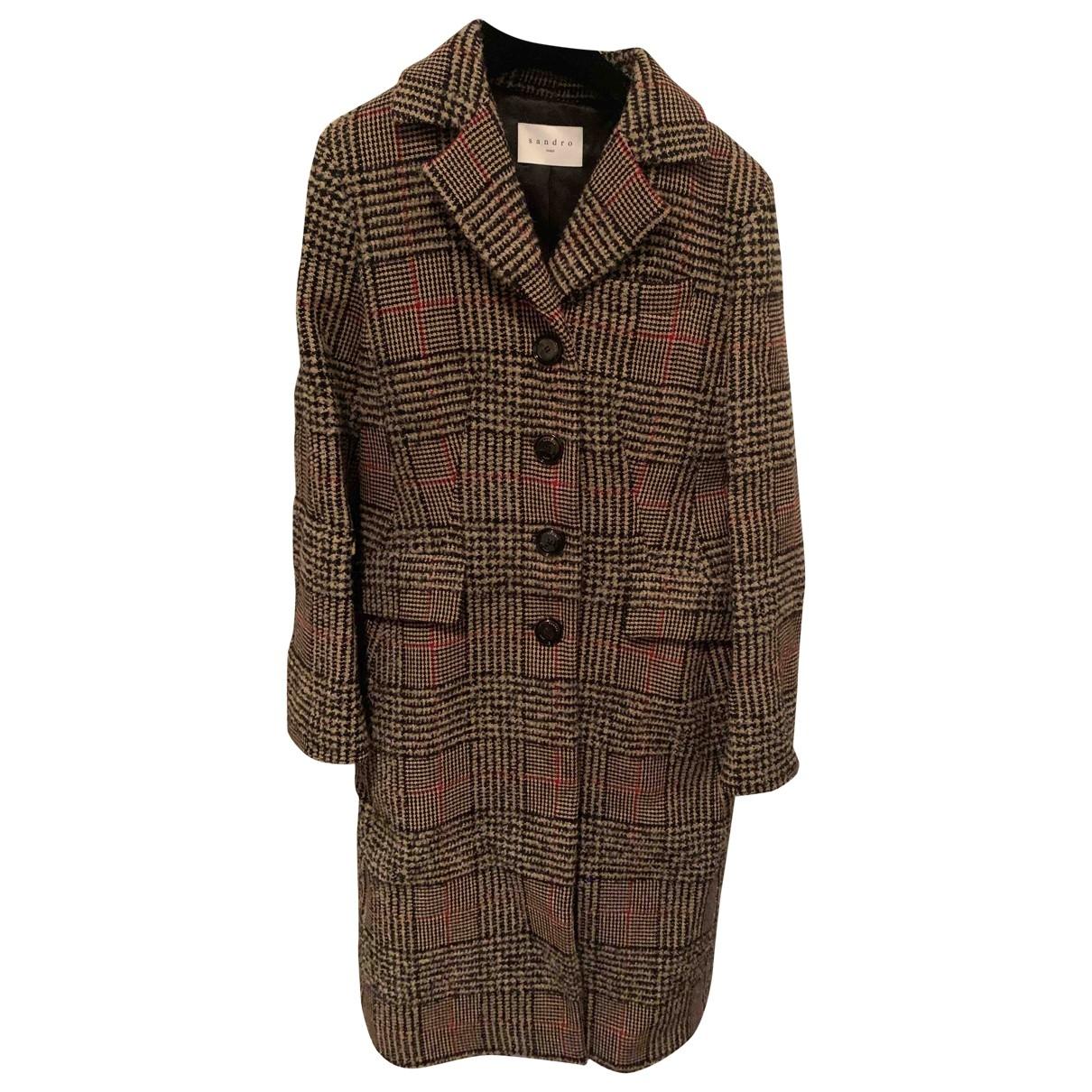 Sandro - Manteau   pour femme en laine - multicolore