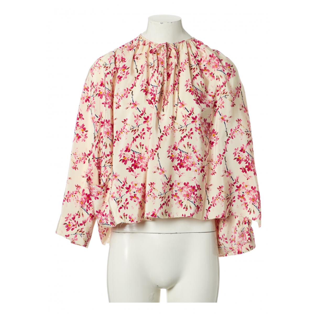 Balenciaga - Top   pour femme en soie - multicolore