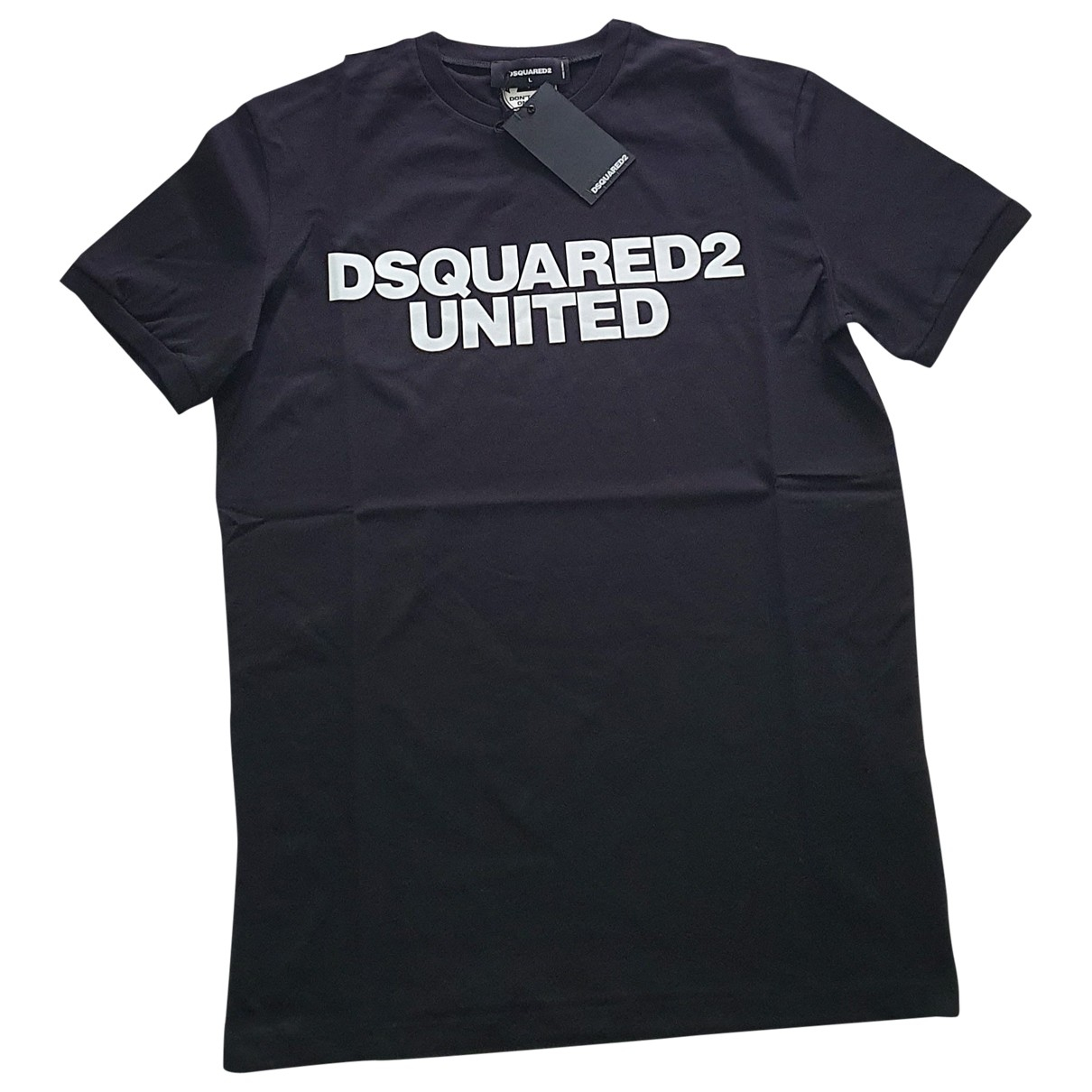 Dsquared2 \N Black Cotton T-shirts for Men L International
