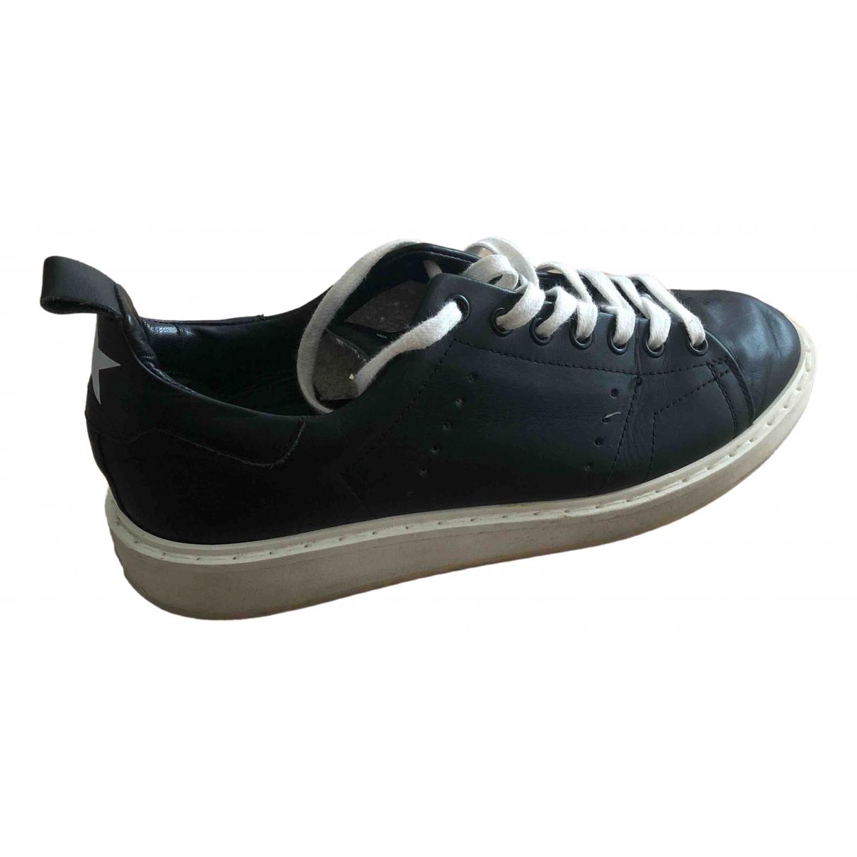 Golden Goose Starter Sneakers in  Schwarz Leder
