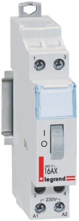 Legrand 2P Impulse Relay, 16 A, 230 V Coil