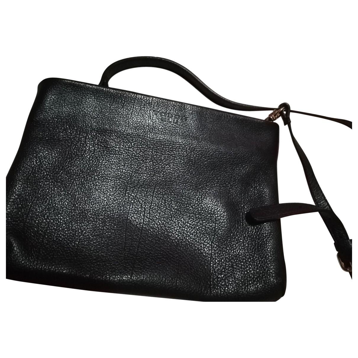Tosca Blu \N Black Leather Clutch bag for Women \N