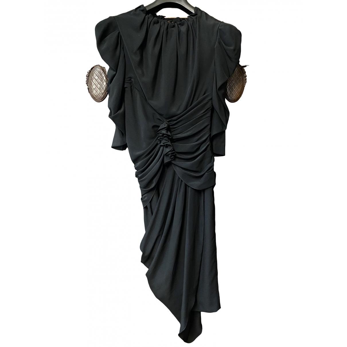 Vionnet \N Kleid in  Schwarz Seide