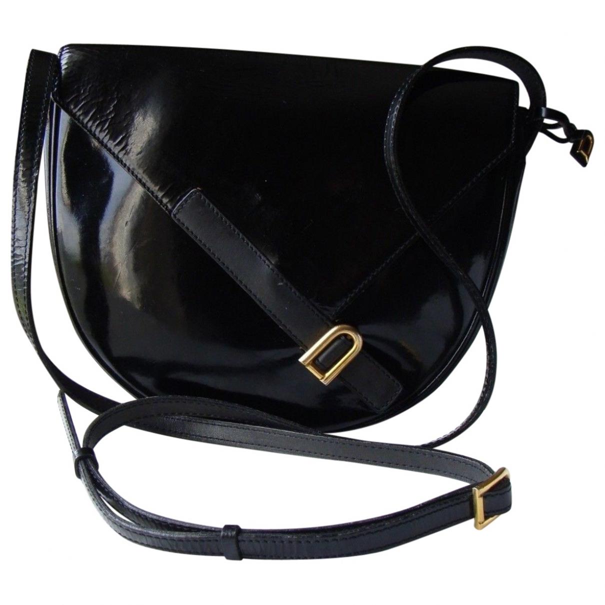 Delvaux \N Handtasche in  Schwarz Lackleder