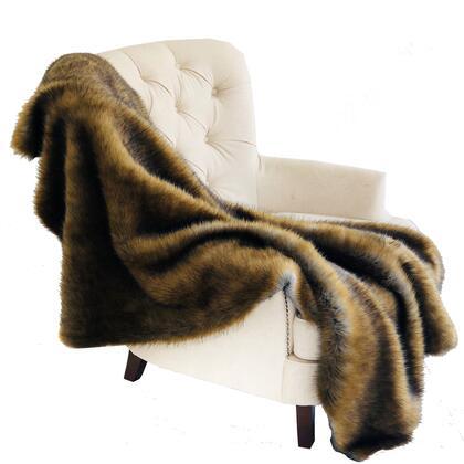 Brown/Grey Collection PBSF1506-6072-TC 60W x 72L Wild Grizzly Bear Faux Fur Luxury