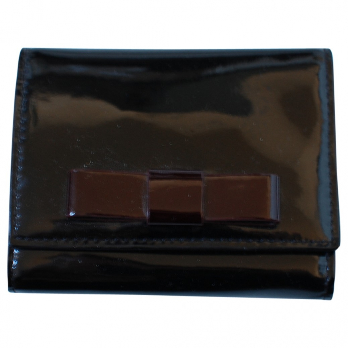 Max Mara - Petite maroquinerie   pour femme en cuir verni - noir