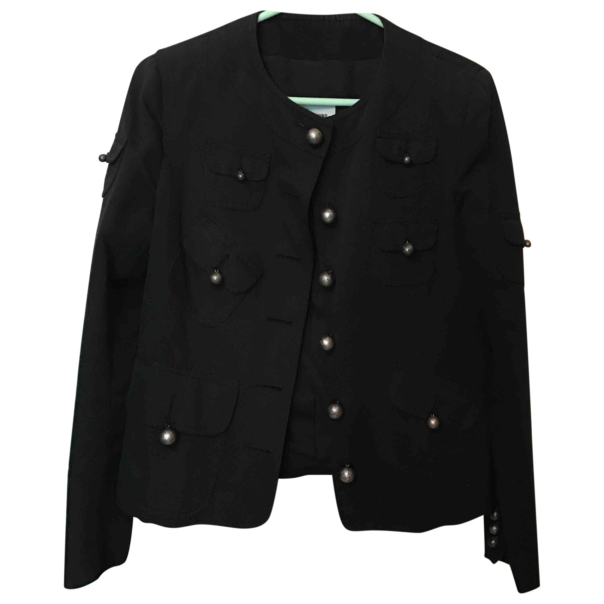 Moschino Cheap And Chic \N Black Cotton jacket for Women 44 IT