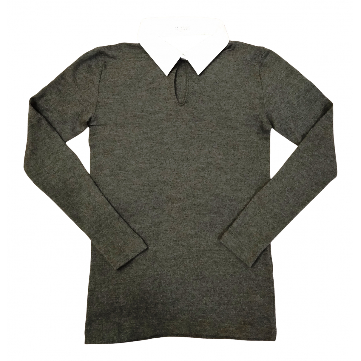 Brunello Cucinelli N Grey Wool Knitwear for Women M International